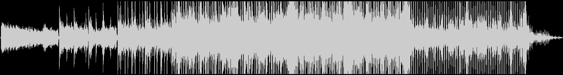 少し湿った空気感のBGMの未再生の波形