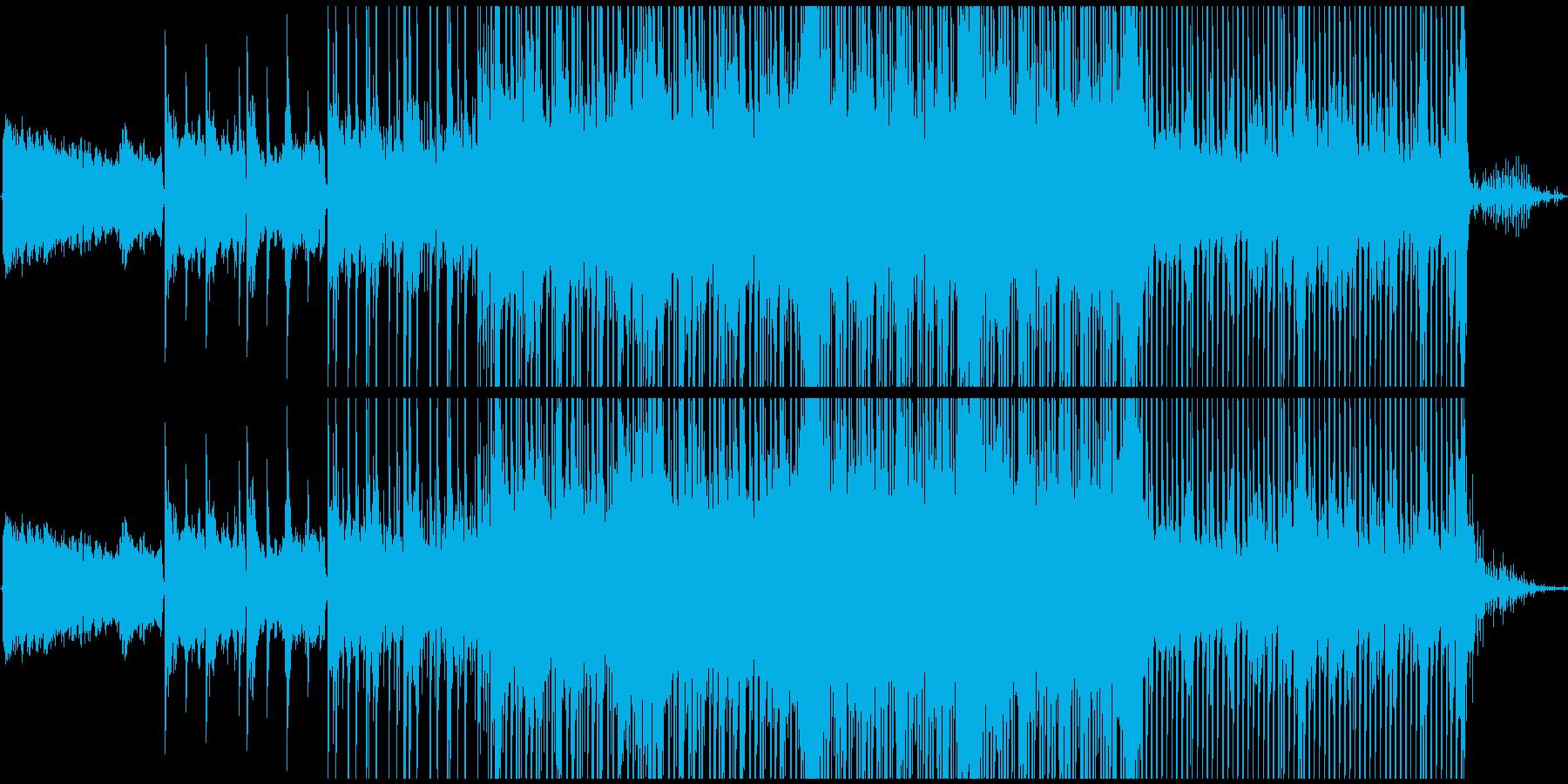 少し湿った空気感のBGMの再生済みの波形