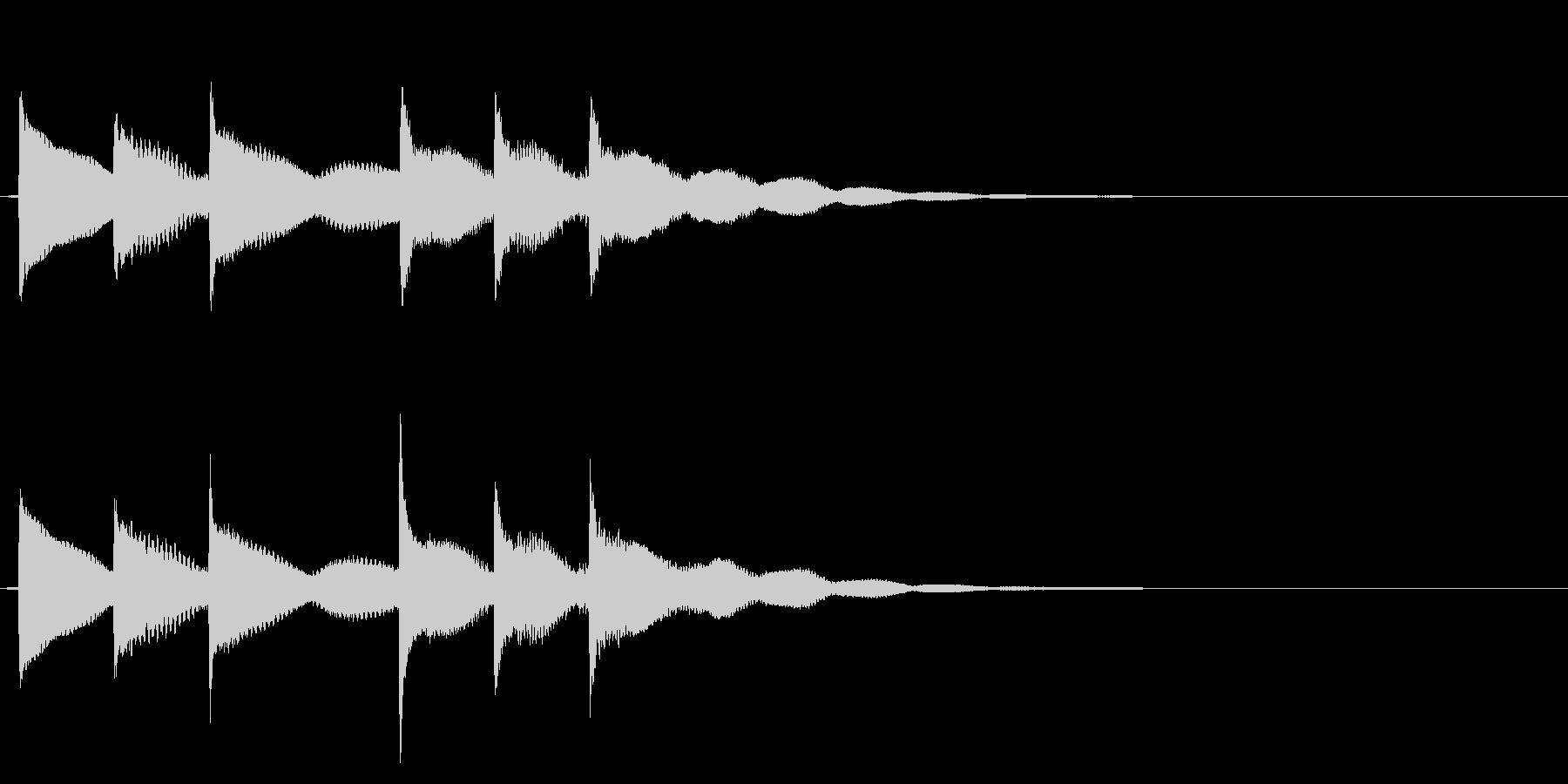 ティロリンティロリン音階が前後で変化ベルの未再生の波形