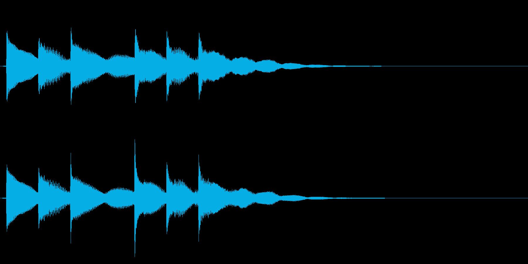 ティロリンティロリン音階が前後で変化ベルの再生済みの波形
