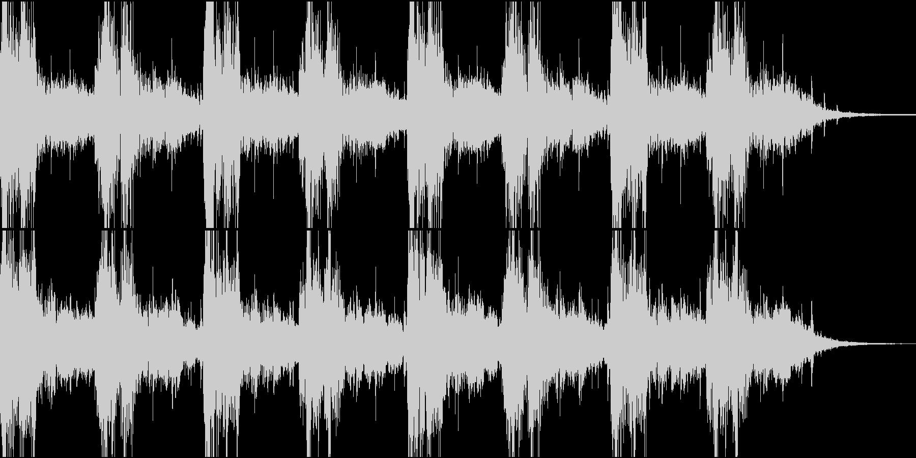 緊迫した雰囲気のBGMの未再生の波形