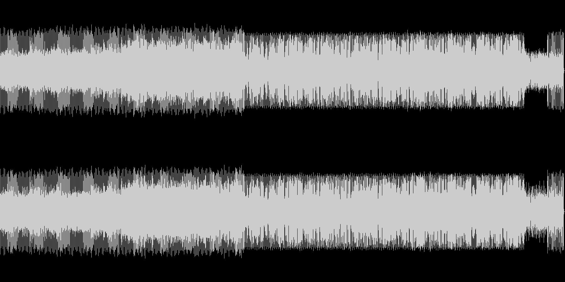 電波をイメージしたピコピコ音楽の未再生の波形