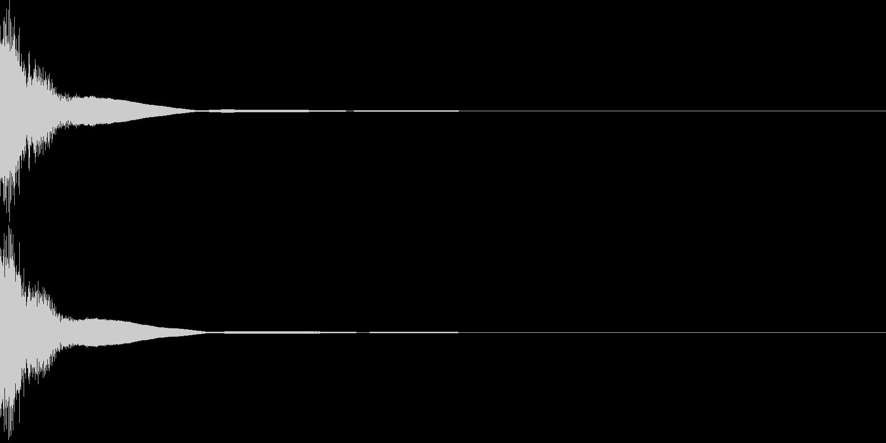 [カキーン]剣/戦い/アクション/01の未再生の波形