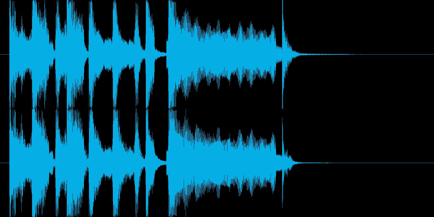 ロックオルガンのジングルの再生済みの波形