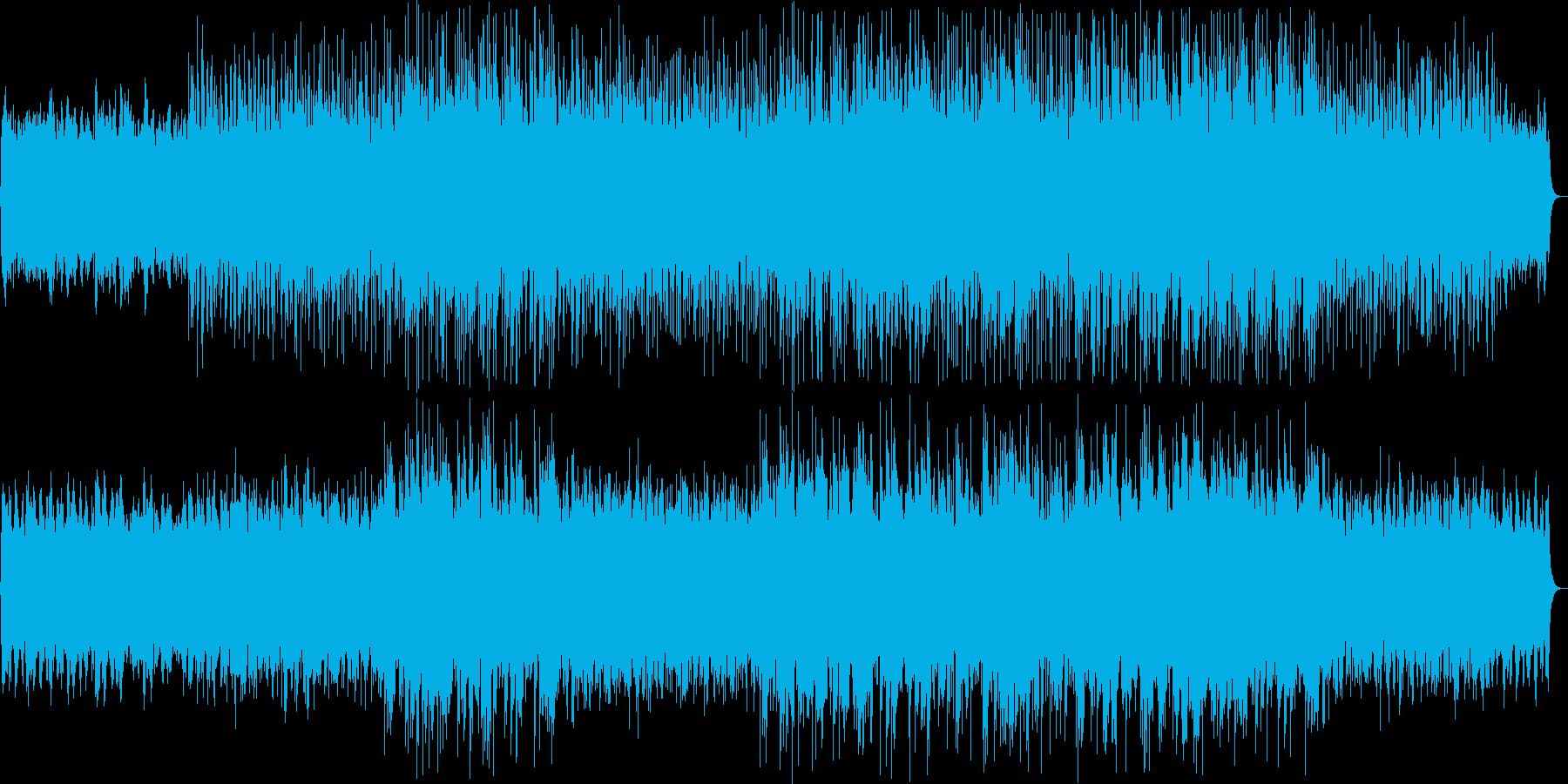 壮大な印象のシンセ・ピアノサウンドの再生済みの波形