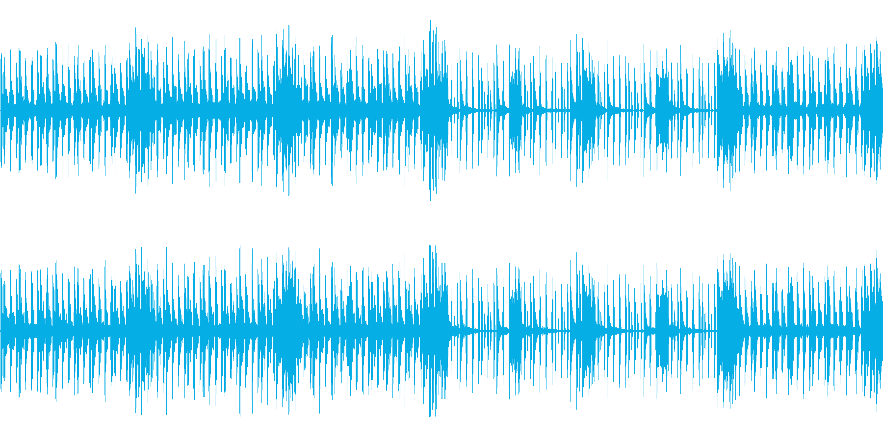シリアス目のステージ風チップチューンの再生済みの波形