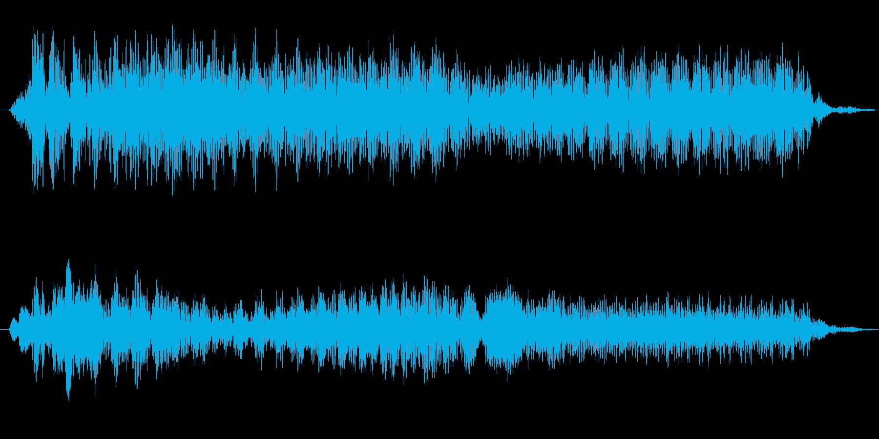 モノレール発車ベルの再生済みの波形