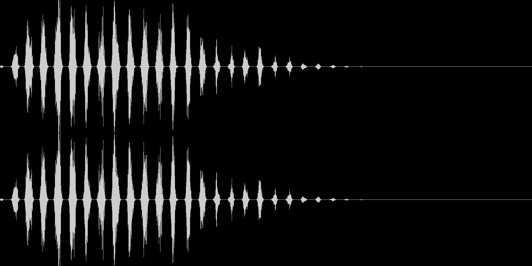走る音01(可愛いキャラ)の未再生の波形