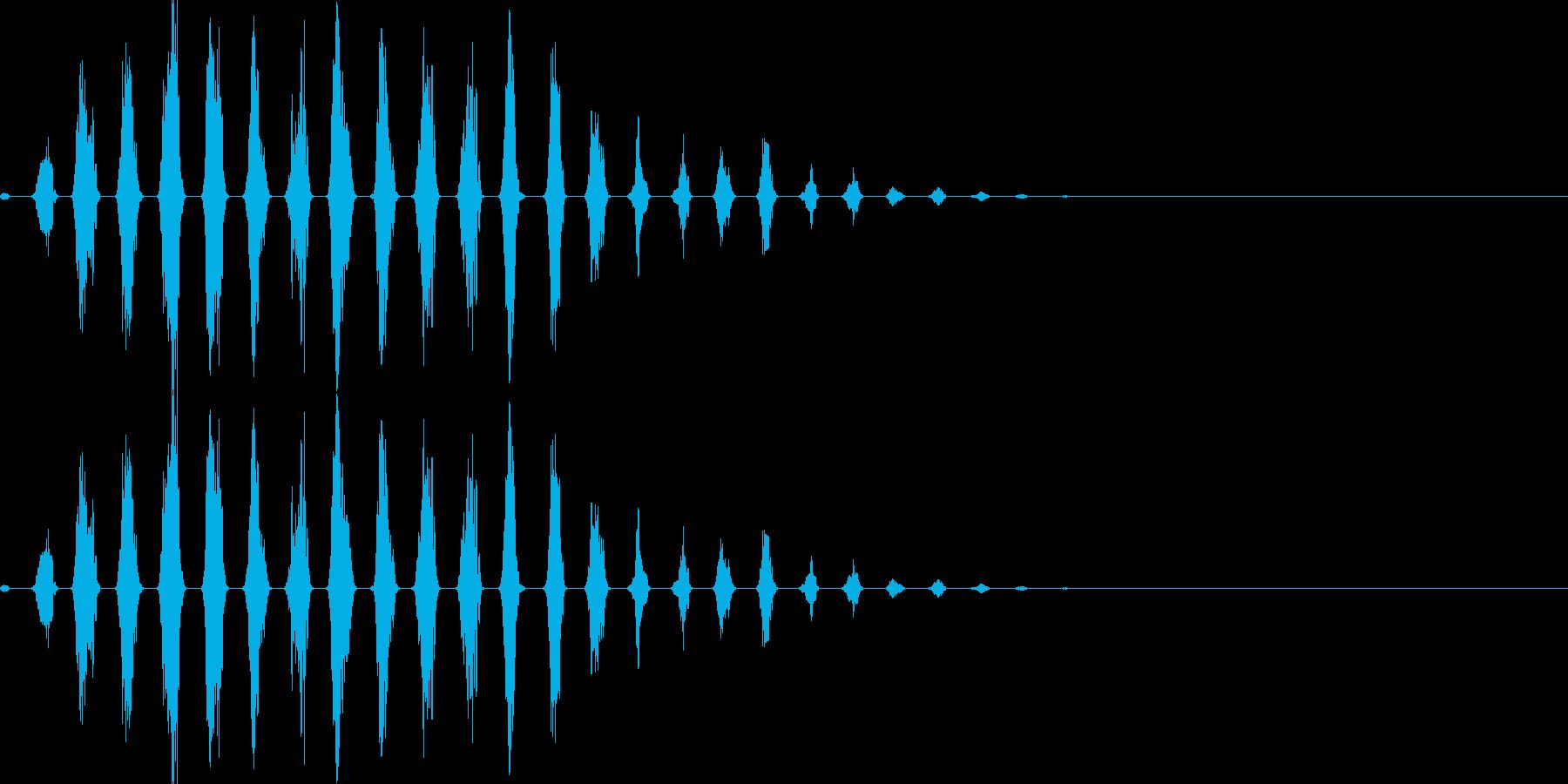 走る音01(可愛いキャラ)の再生済みの波形