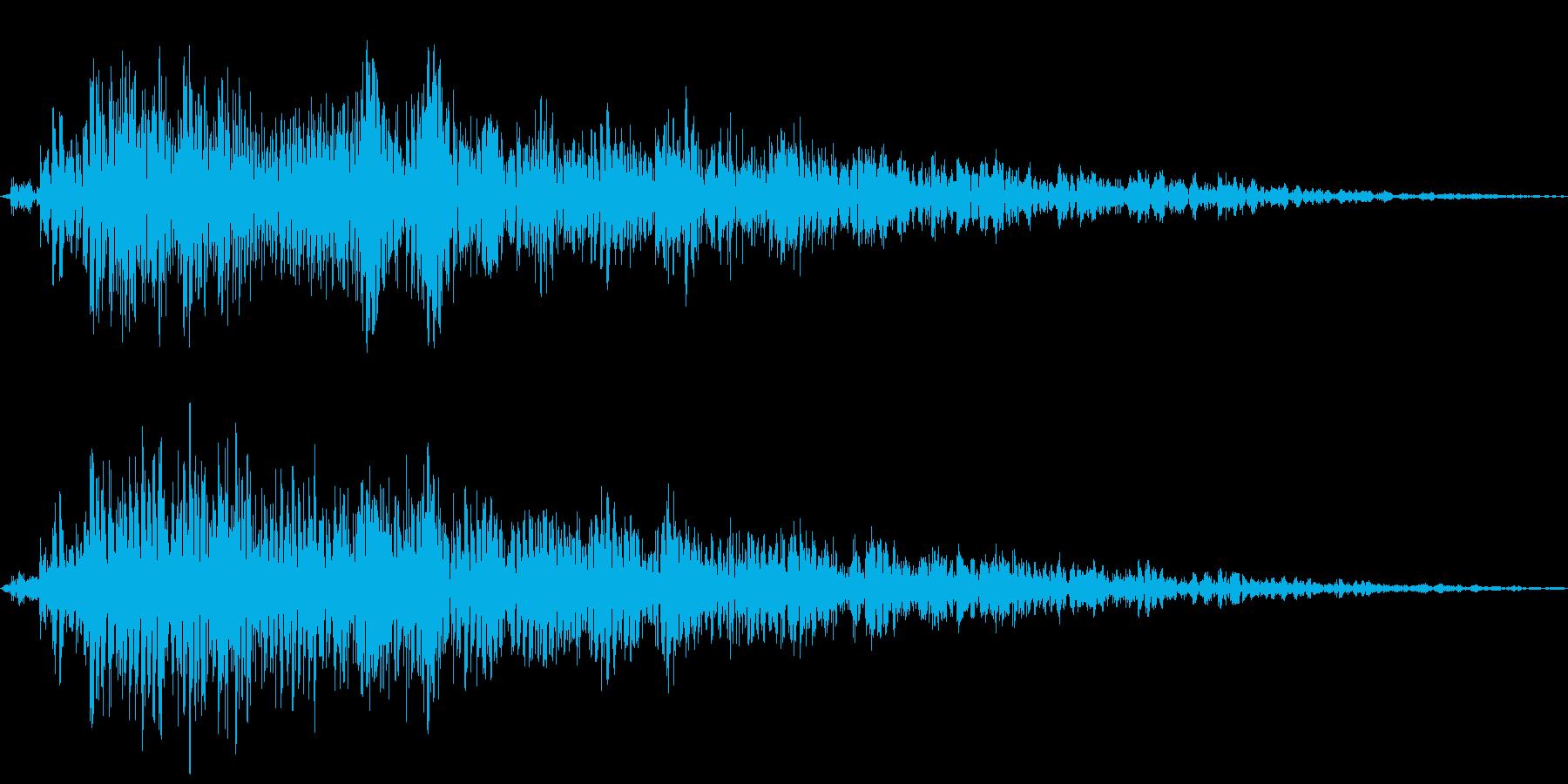 Animal 大型の草食動物の鳴き声の再生済みの波形