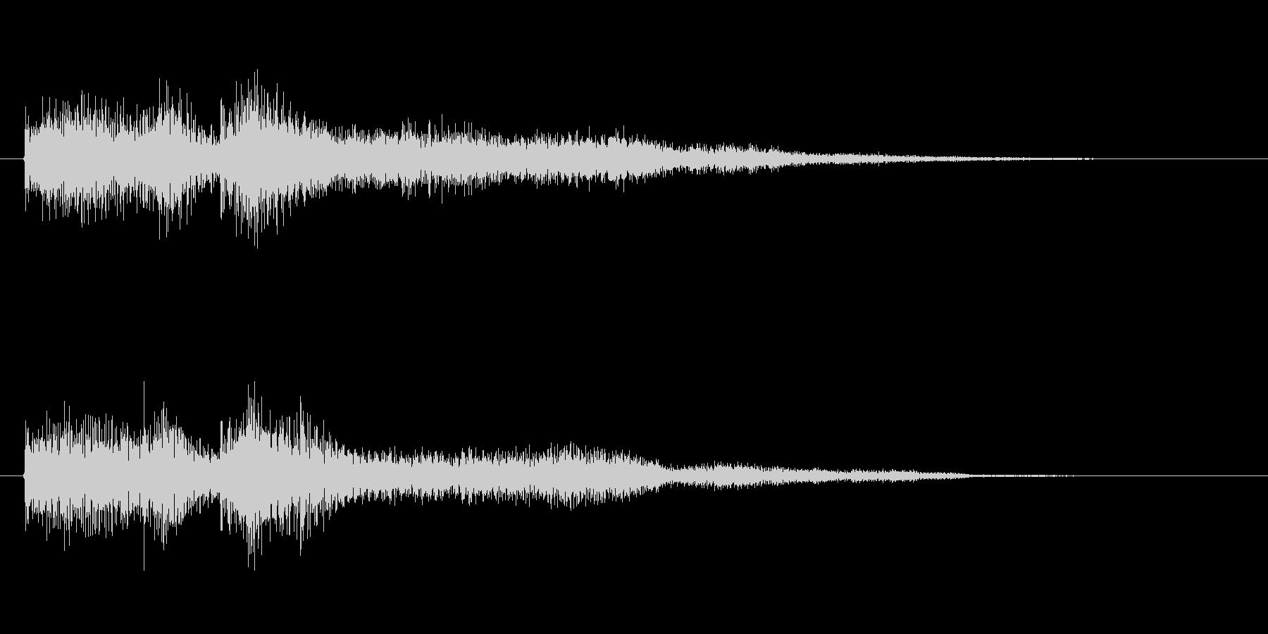 レベルアップ用音源オーケストラテクノの未再生の波形