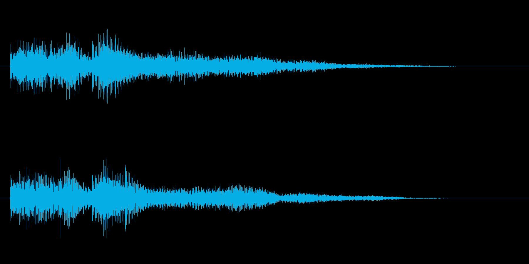レベルアップ用音源オーケストラテクノの再生済みの波形