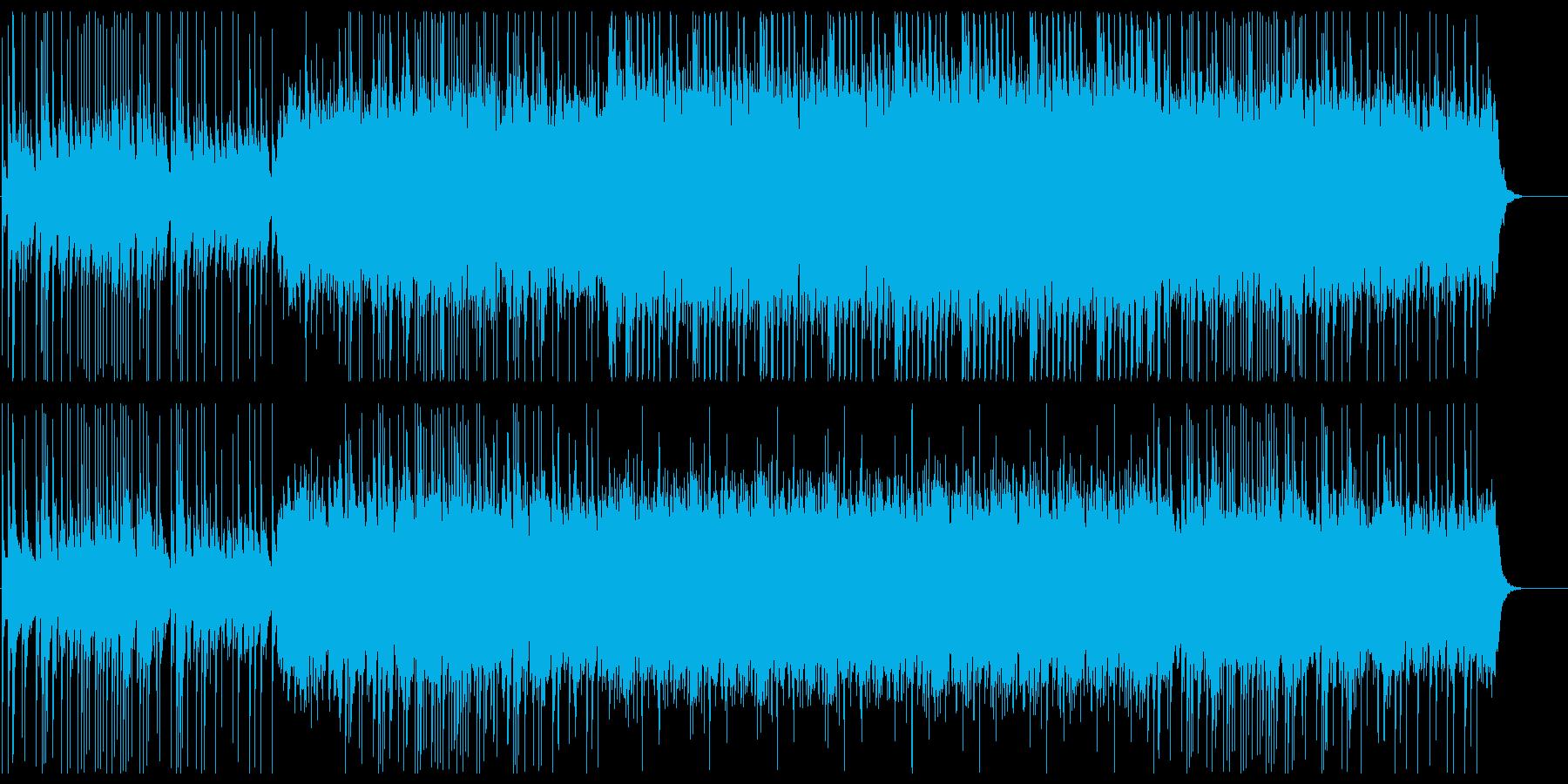 ファンタジーな弦楽器シンセサウンドの再生済みの波形