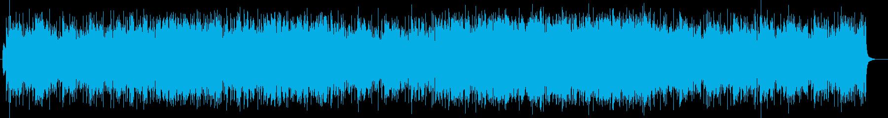 迫力と盛大なシンセサイザーサウンドの再生済みの波形