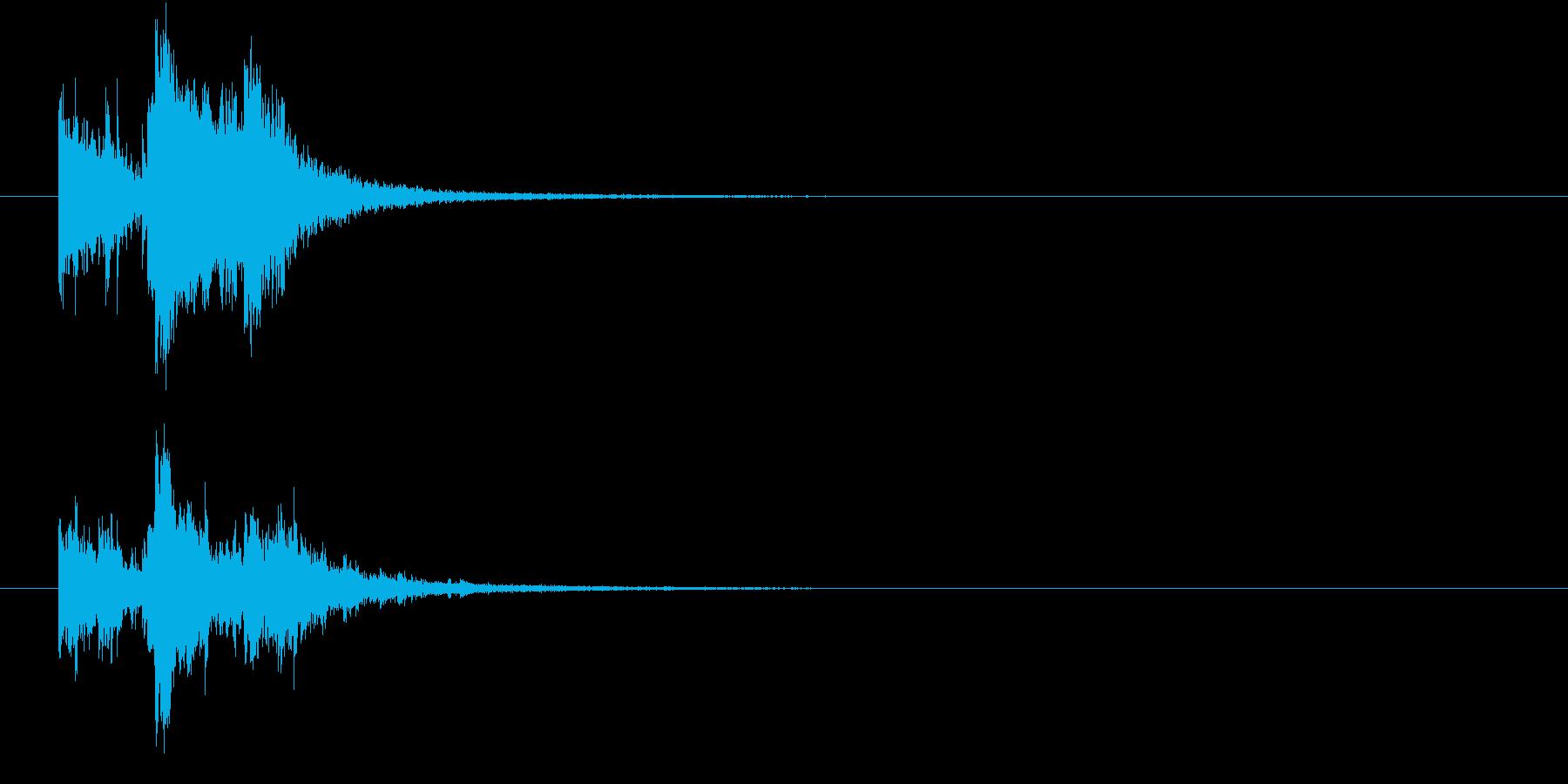 割れ物が派手に破壊される音(エコー)の再生済みの波形