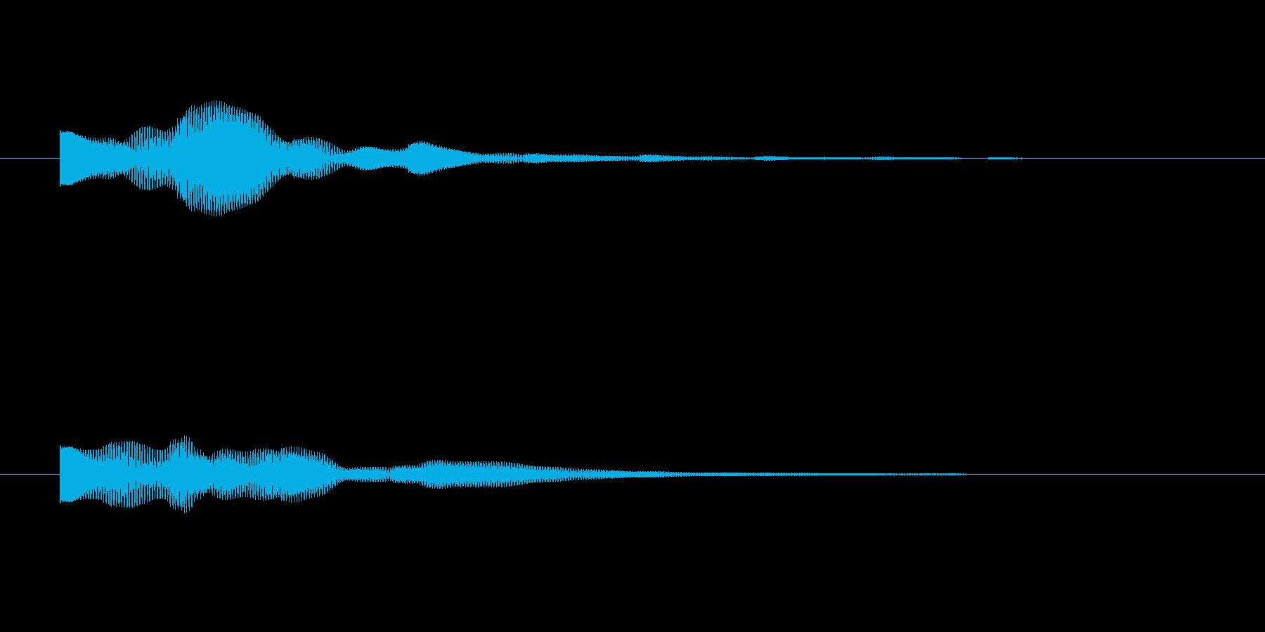 ゲーム起動音・選択音・スタート音の再生済みの波形