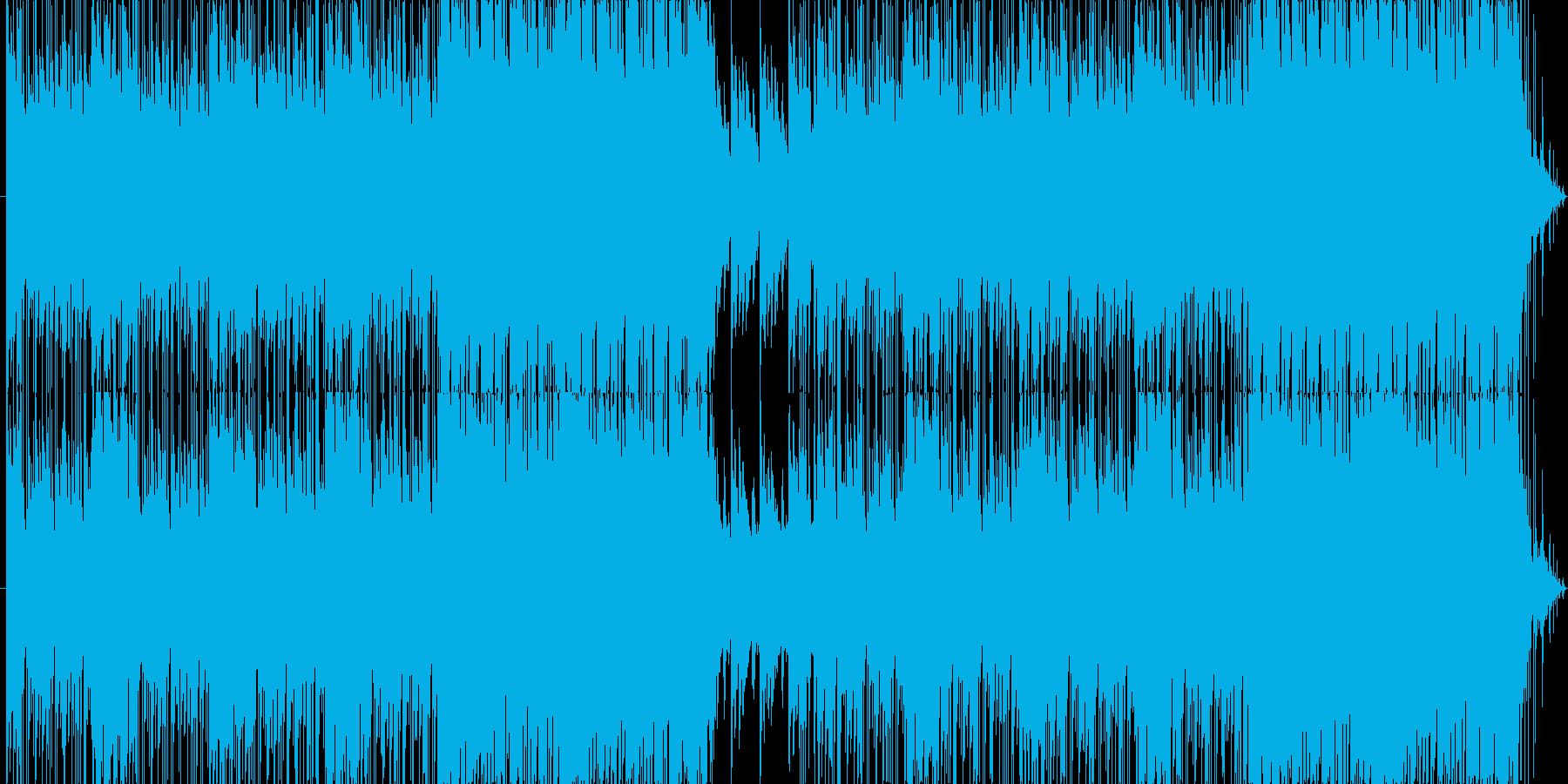 不気味でファンタジックなBGMの再生済みの波形