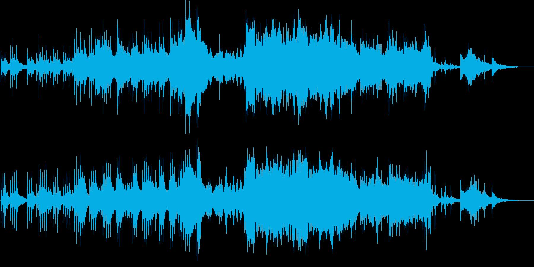 ピアノを主体とした切なく温かい楽曲の再生済みの波形