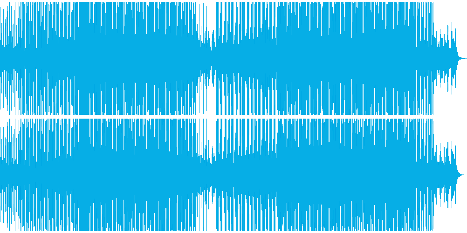 EDMクラブ系ダンスミュージック3の再生済みの波形