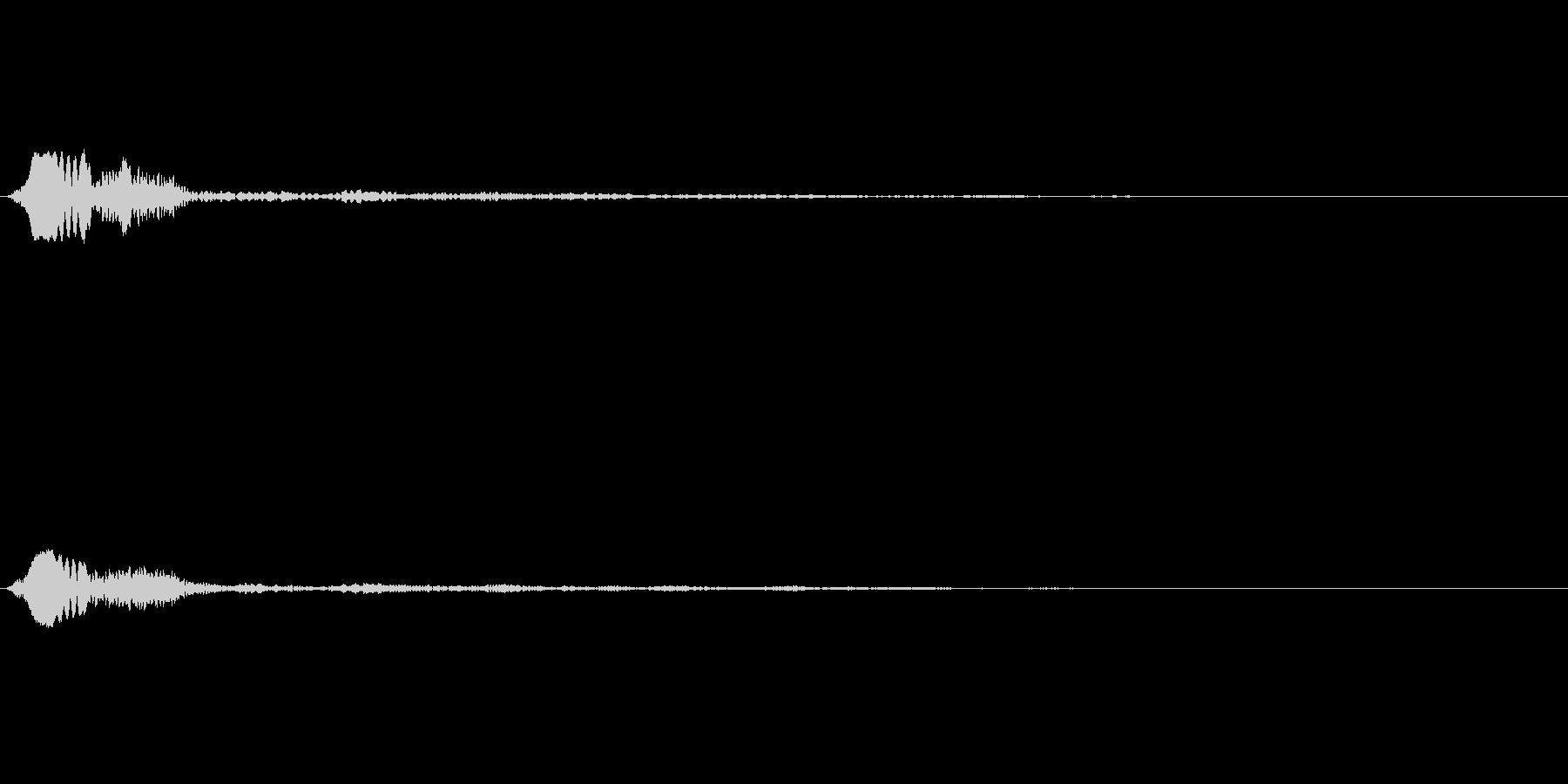 キャンセル 和風01の未再生の波形