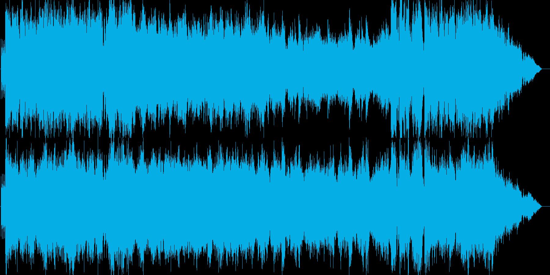 西洋風のお城をイメージしたオーケストラ曲の再生済みの波形