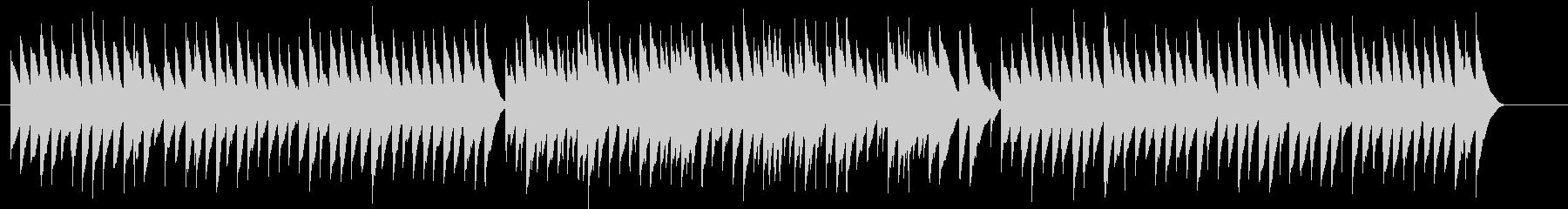とても切ないマイナー調のオルゴールの未再生の波形