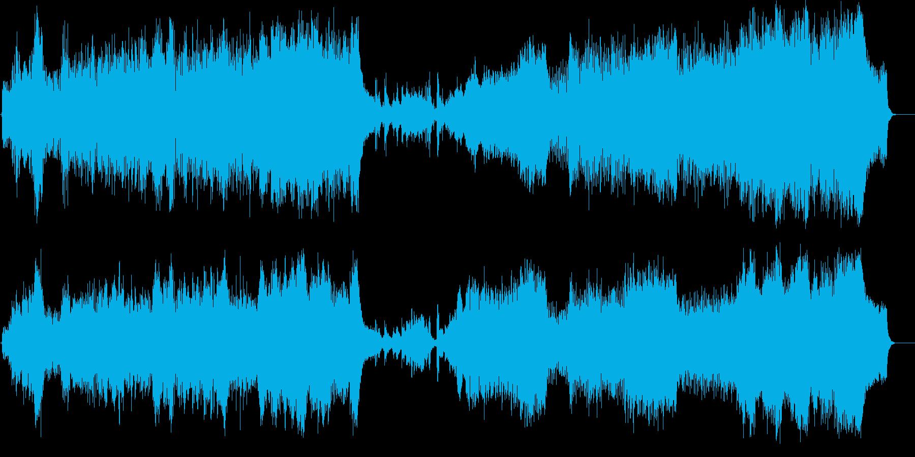 サイレント音楽風オーケストラ・サウンドの再生済みの波形