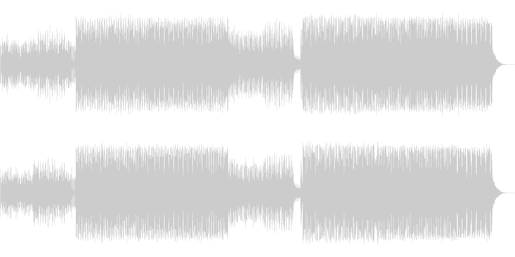 映像に最適なクールなエレクトロハウスの未再生の波形