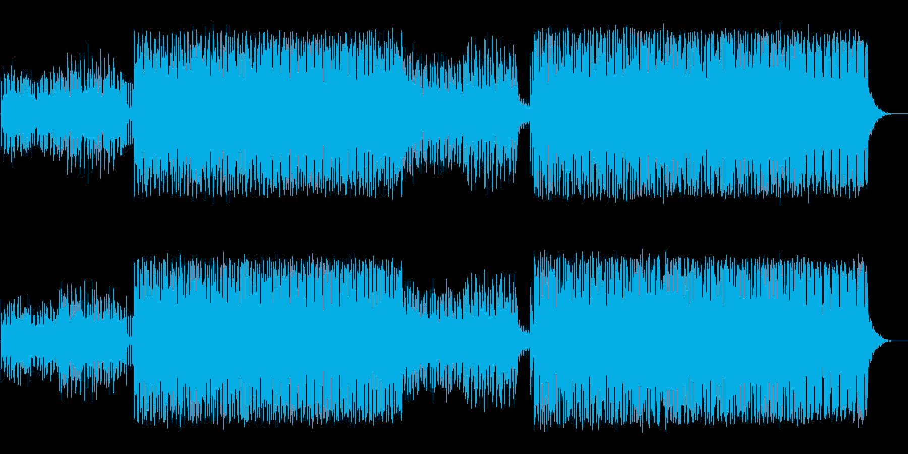 映像に最適なクールなエレクトロハウスの再生済みの波形