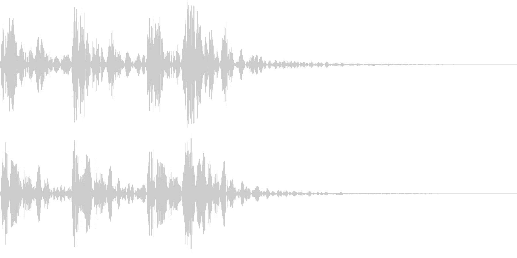 183_ドラム音1の未再生の波形