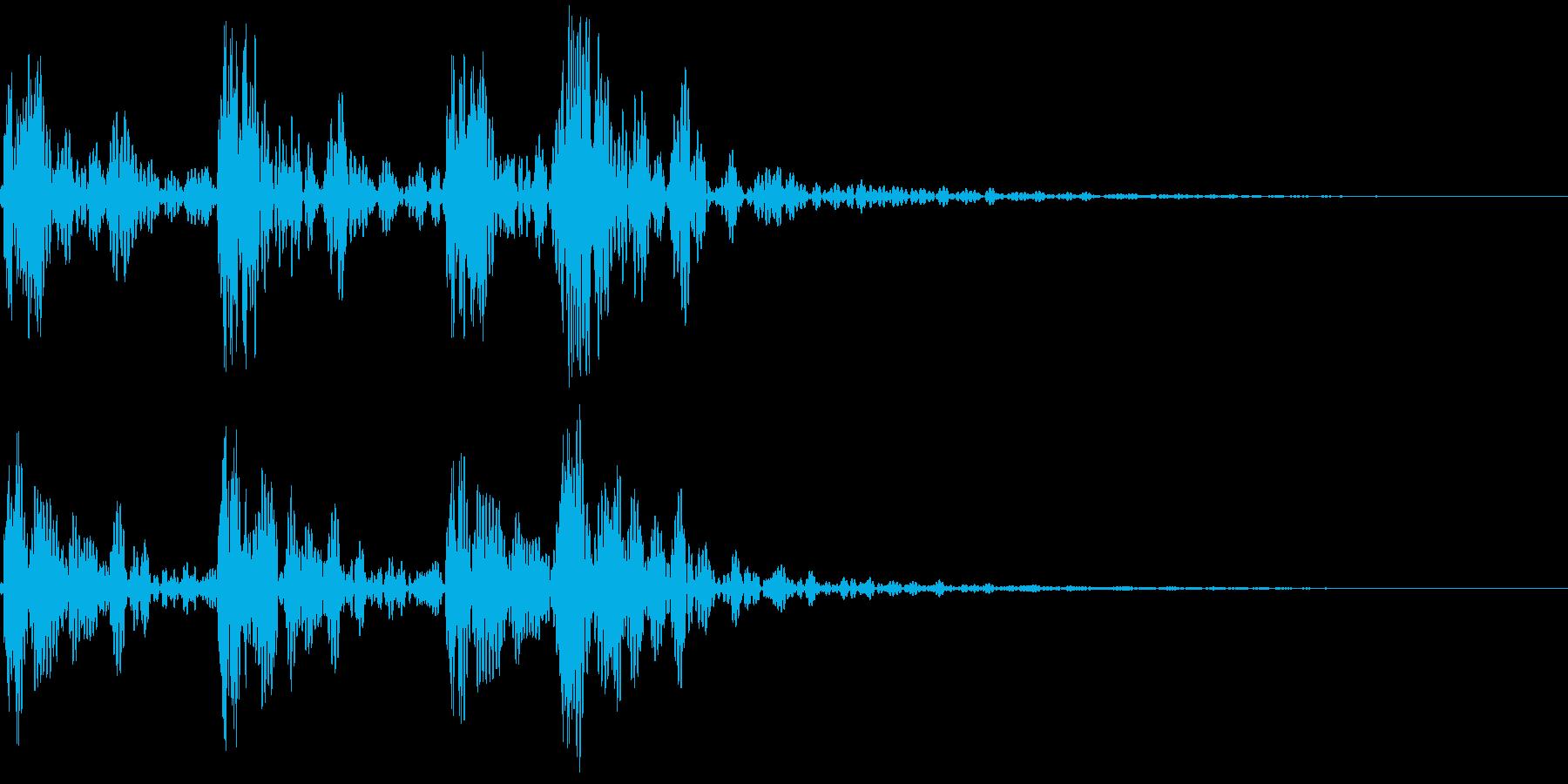 183_ドラム音1の再生済みの波形