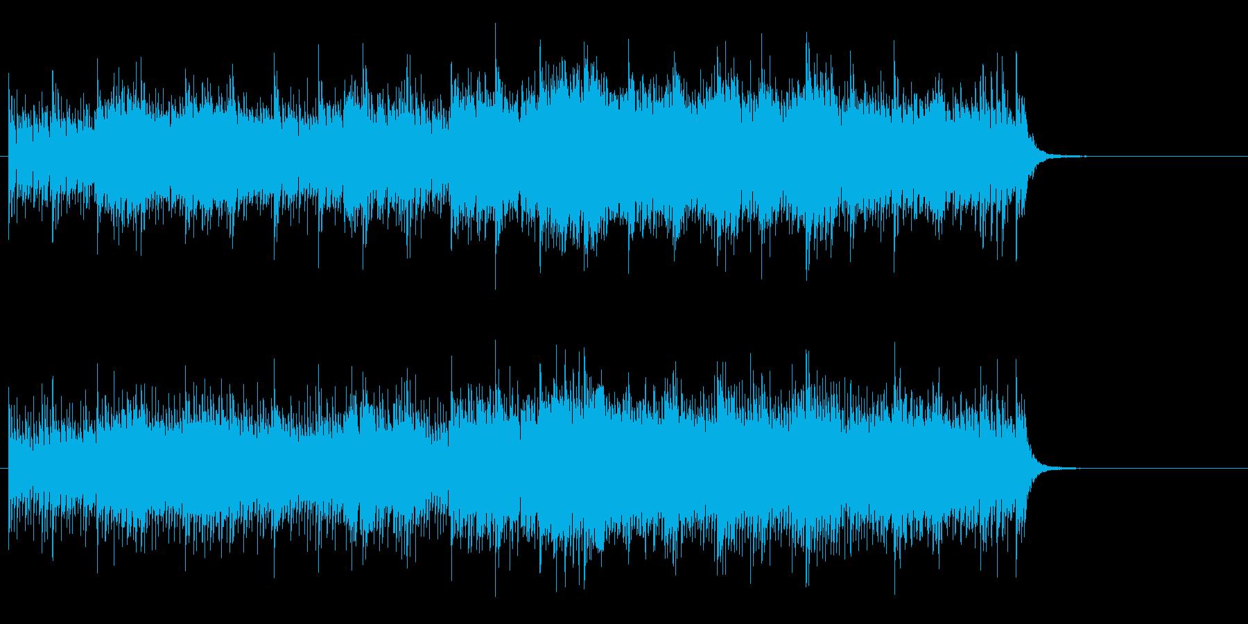 エキゾチック・ムードのメロ無しBGMの再生済みの波形