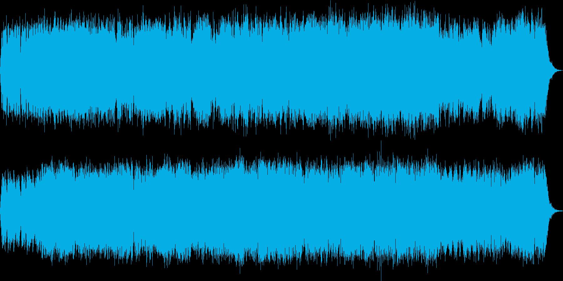 激しい金管とオペラ歌手の情熱的な曲の再生済みの波形