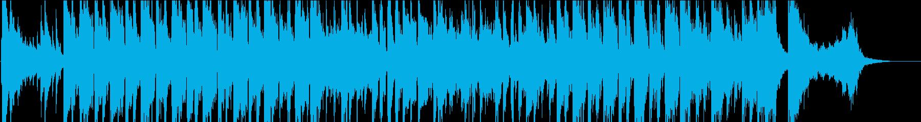 オールドアメリカン風の軽快なBGMの再生済みの波形
