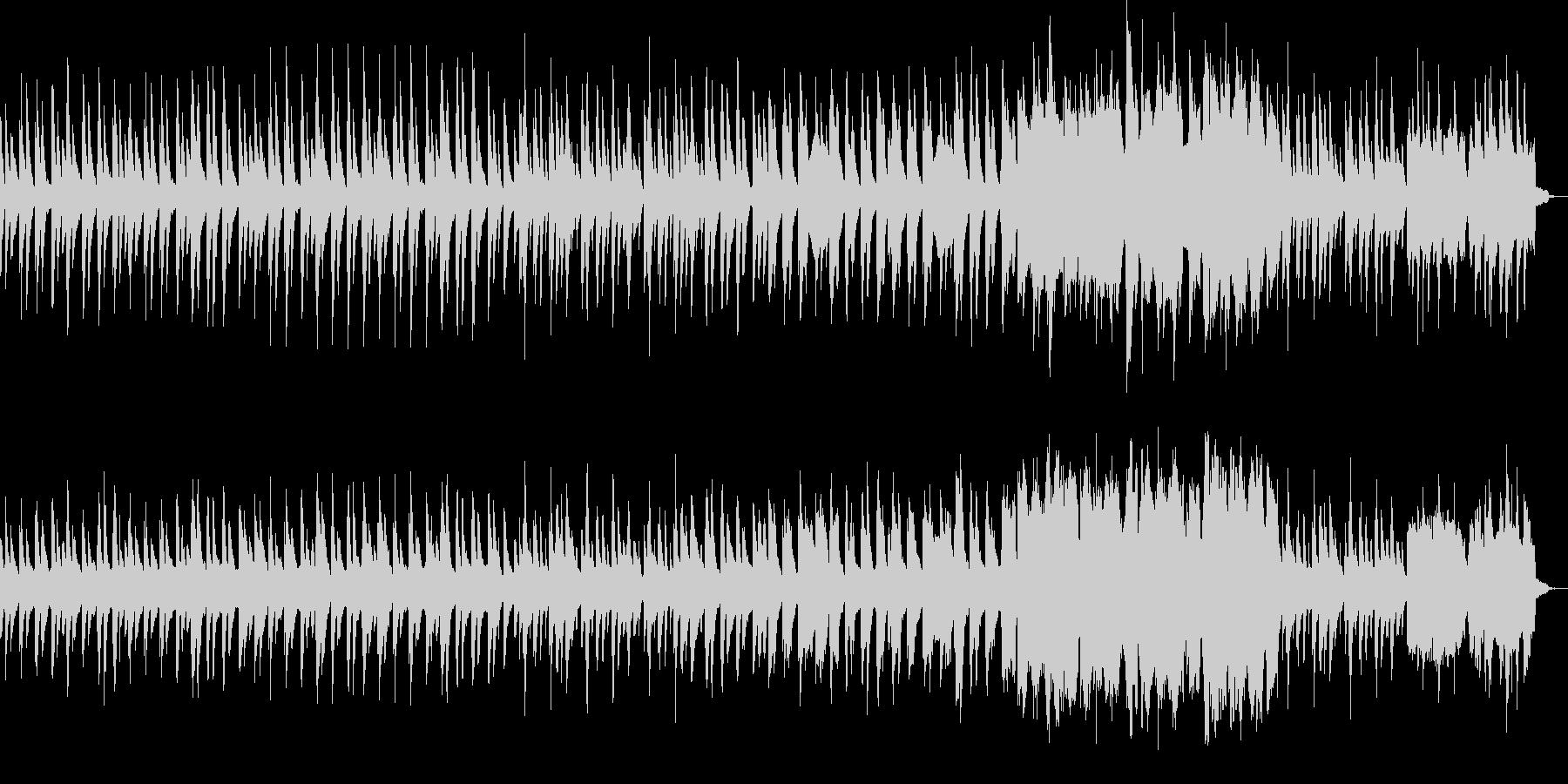 静かで切ない系のインスト曲の未再生の波形