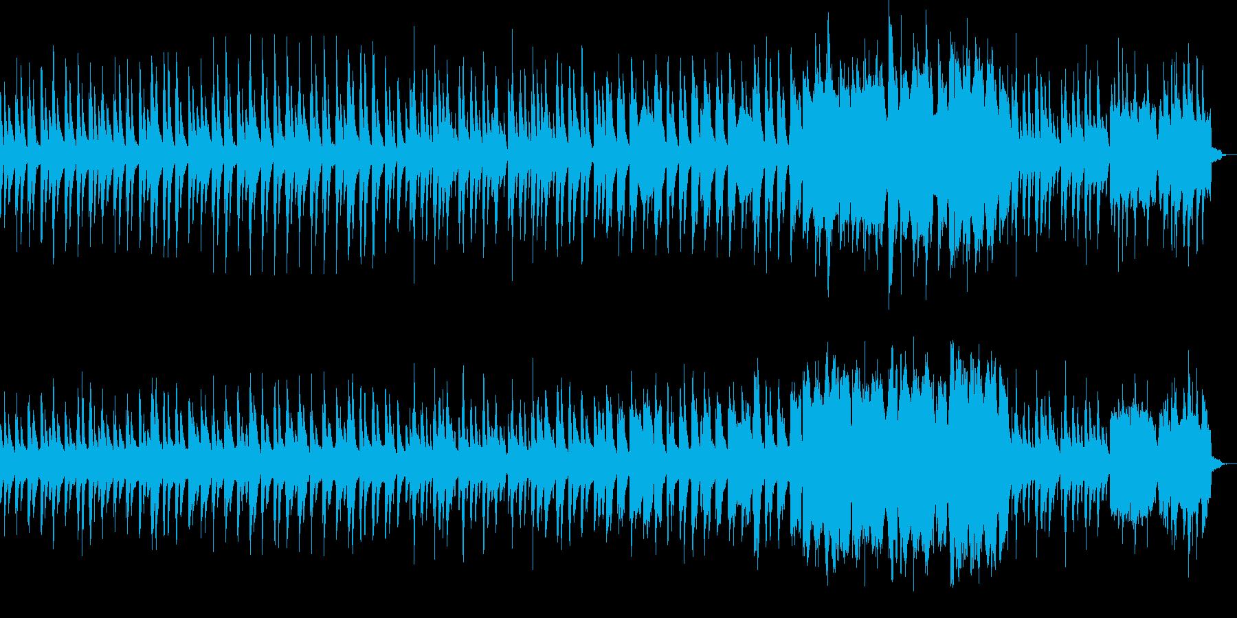 静かで切ない系のインスト曲の再生済みの波形