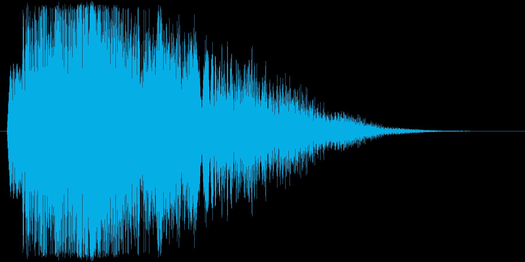 【ギター攻撃(強速)】ギュゥウィイイン!の再生済みの波形
