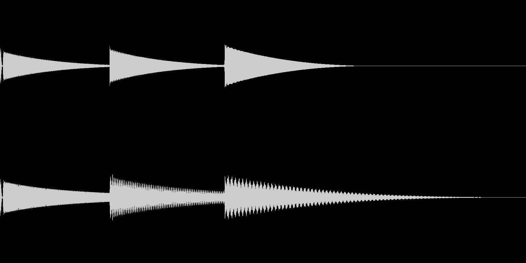 [効果音]柔らかい着信音の未再生の波形