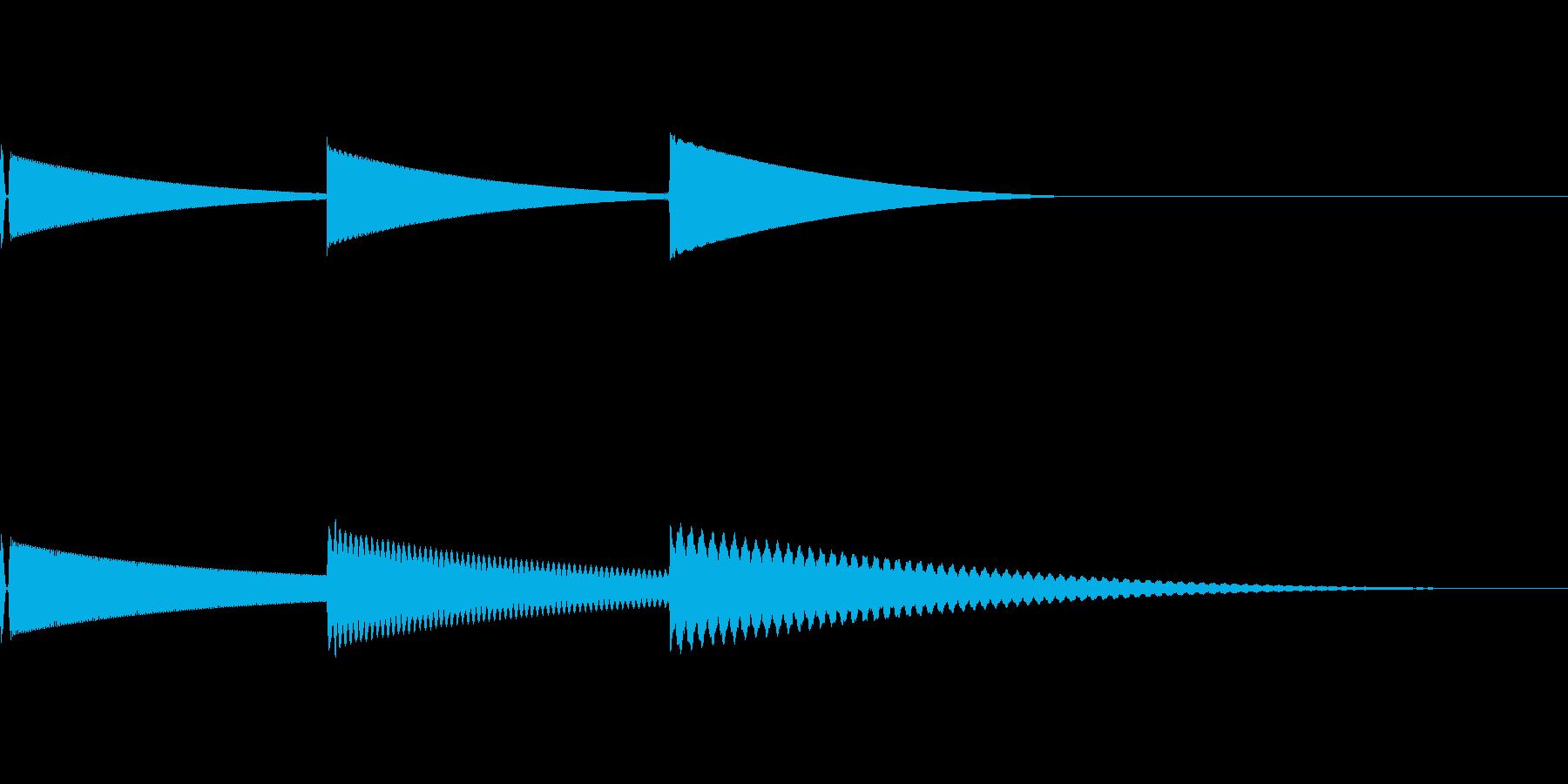 [効果音]柔らかい着信音の再生済みの波形