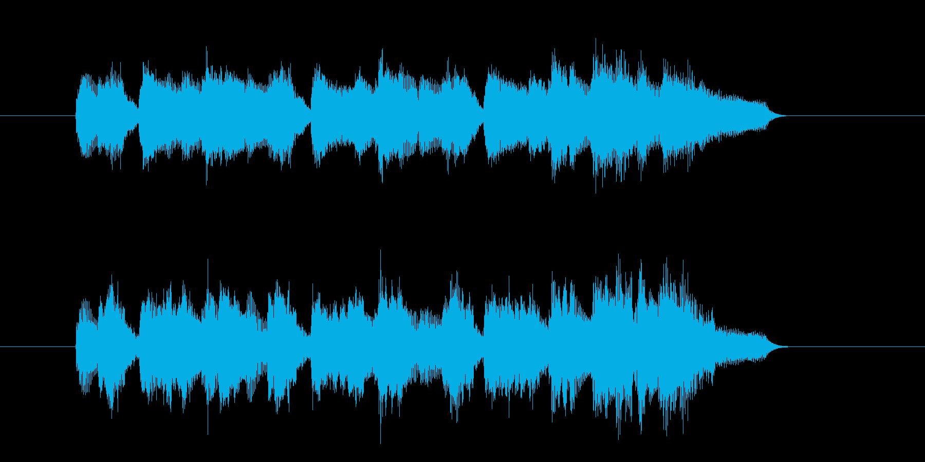 のんびり 場面転換 テーマ コミカルの再生済みの波形