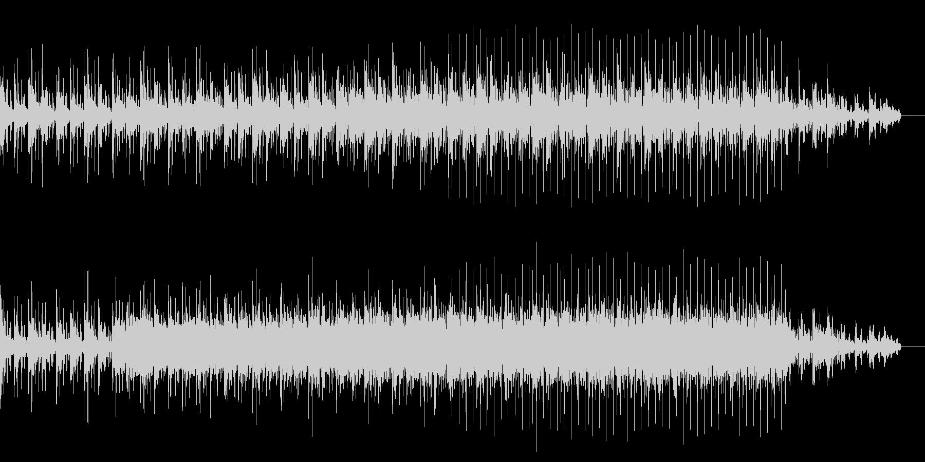 琴の音色とチルアウトな浮遊感テクノBGMの未再生の波形