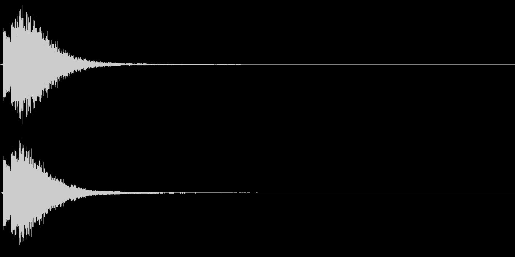 ピリーン(決定やテロップなどにも最適)の未再生の波形