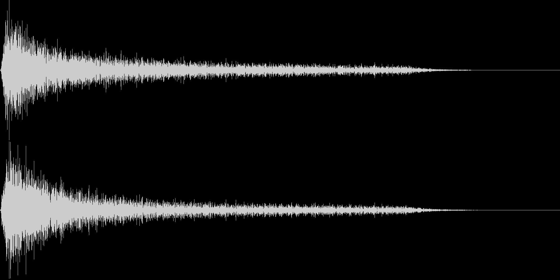 ピアノ ガーン(マイナス_ショック)の未再生の波形