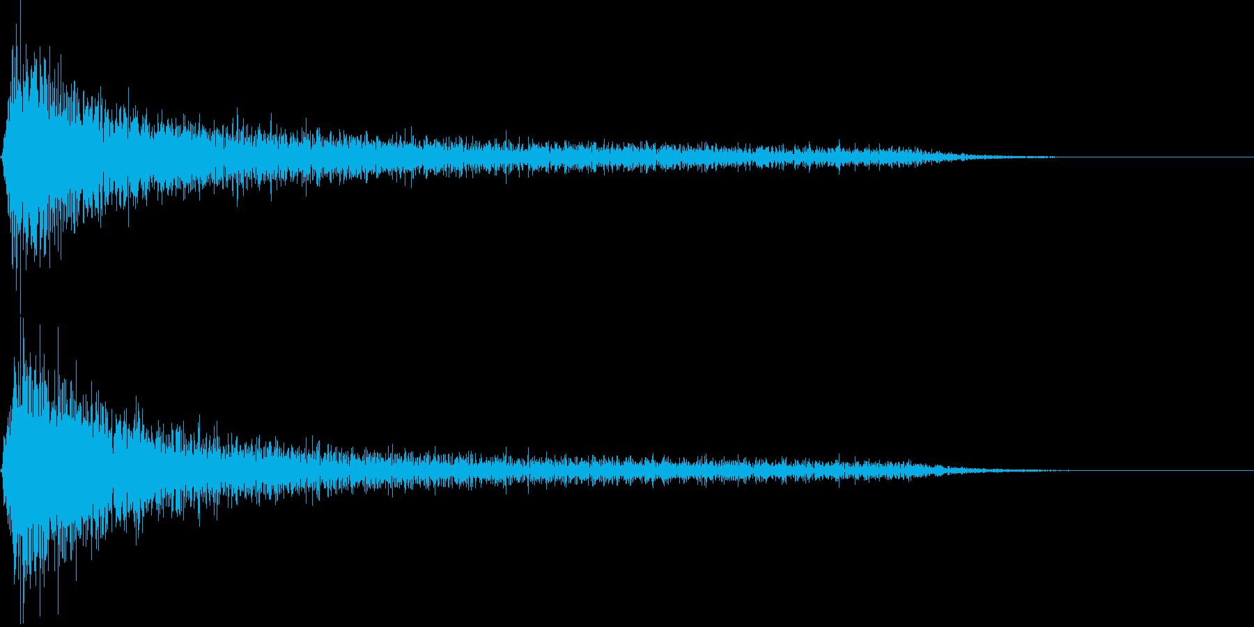 ピアノ ガーン(マイナス_ショック)の再生済みの波形