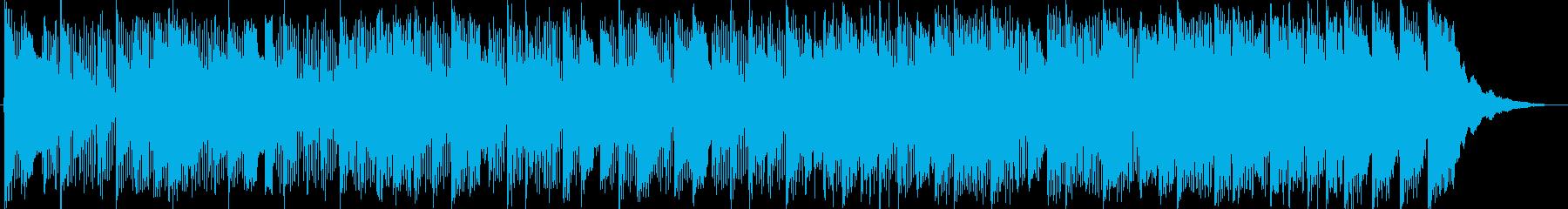 ミニゲームっぽい和風&中華風BGMの再生済みの波形