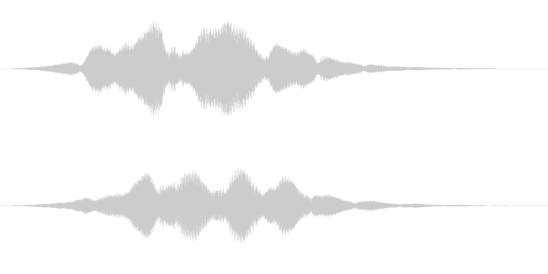 金属を摺るような効果音ですの未再生の波形