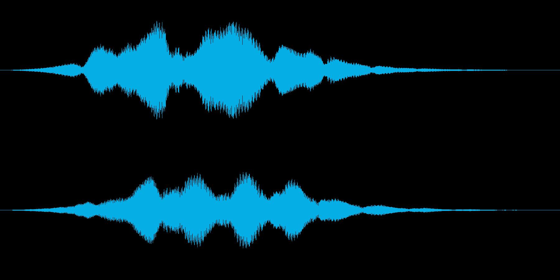 金属を摺るような効果音ですの再生済みの波形