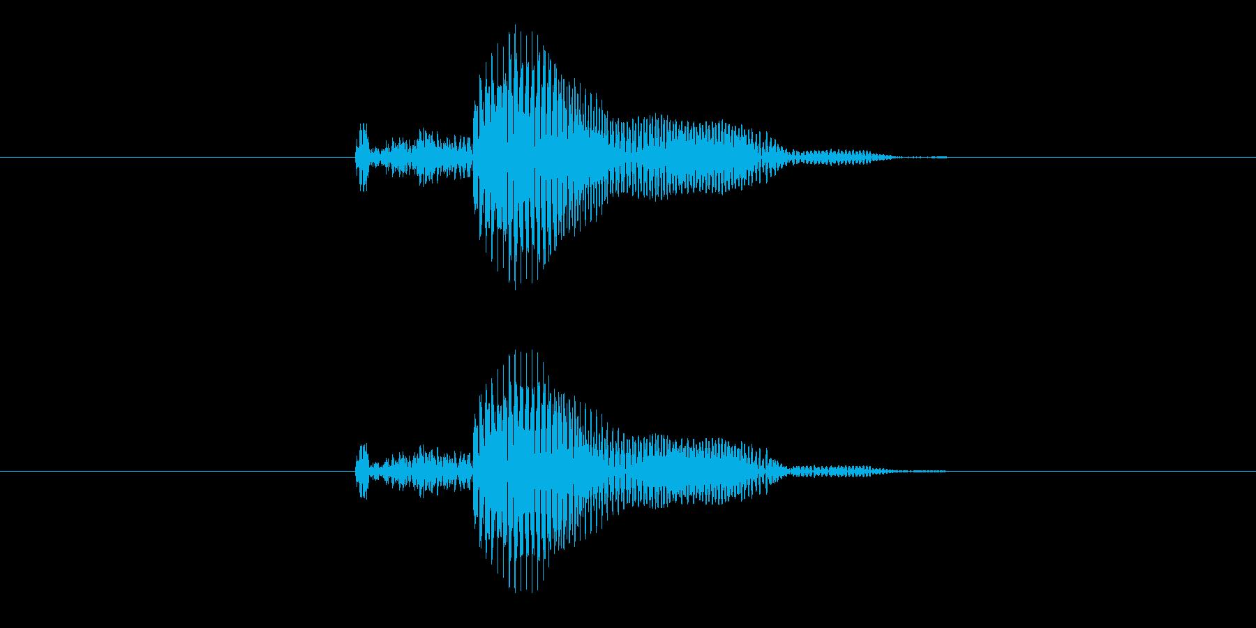 ポン の再生済みの波形