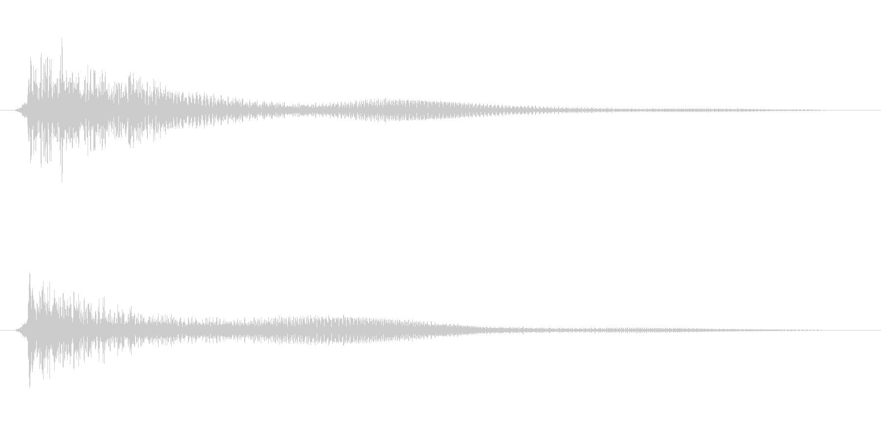 「ドゥーン」(ショックを受ける)の未再生の波形