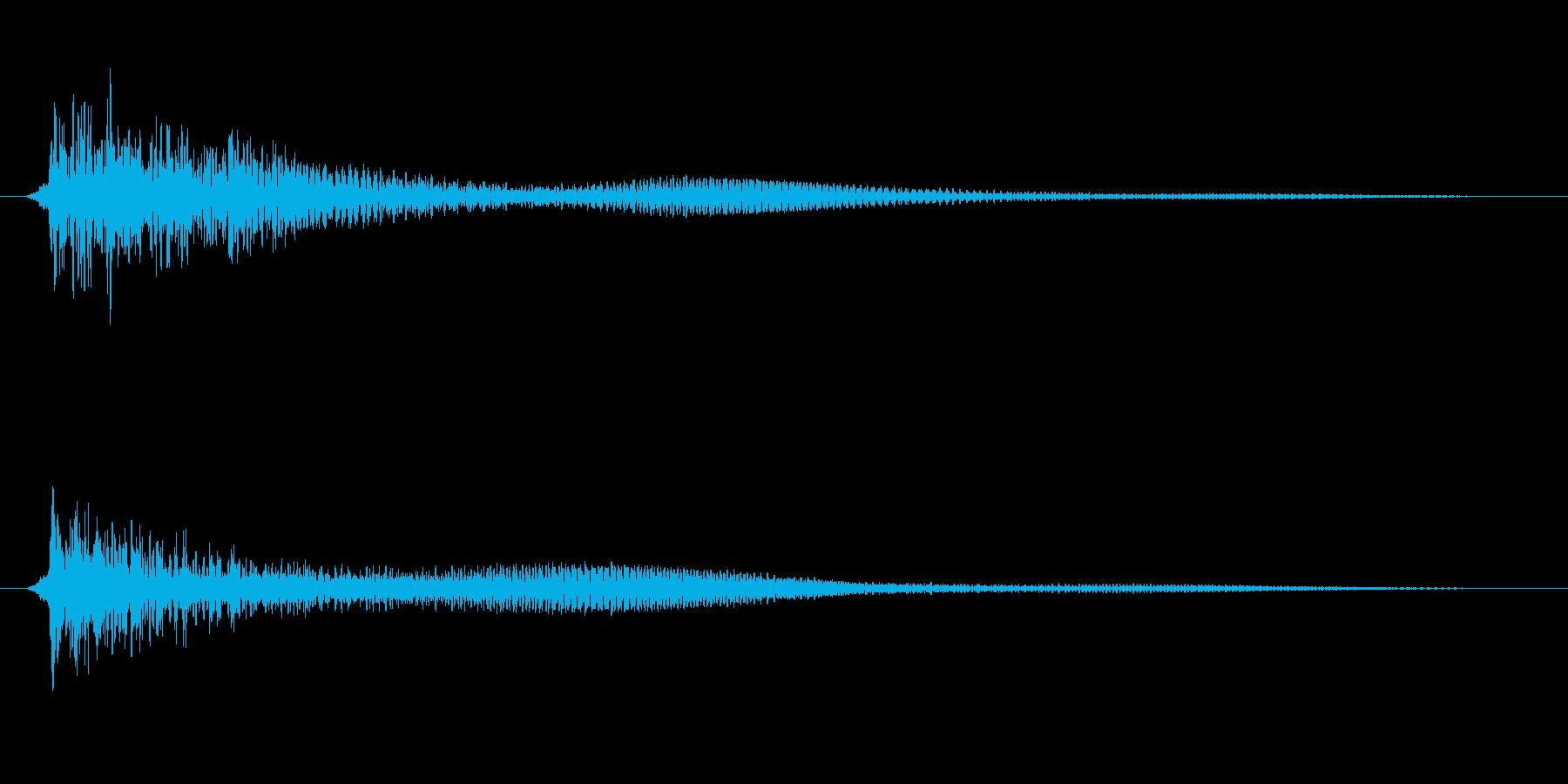「ドゥーン」(ショックを受ける)の再生済みの波形